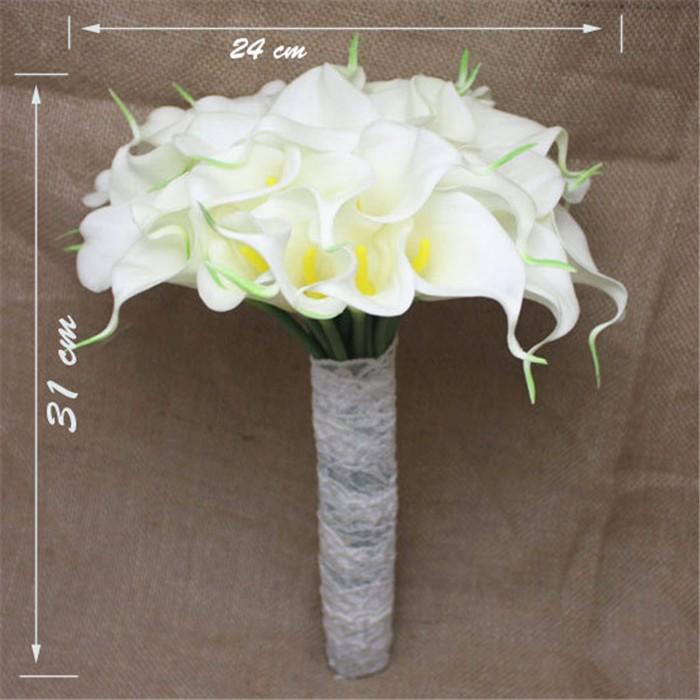 New arrival Romantic Wedding Bride \'s Bouquet Callas Bride Bouquet Bride Holding Flowers Wedding Bouquet (5)