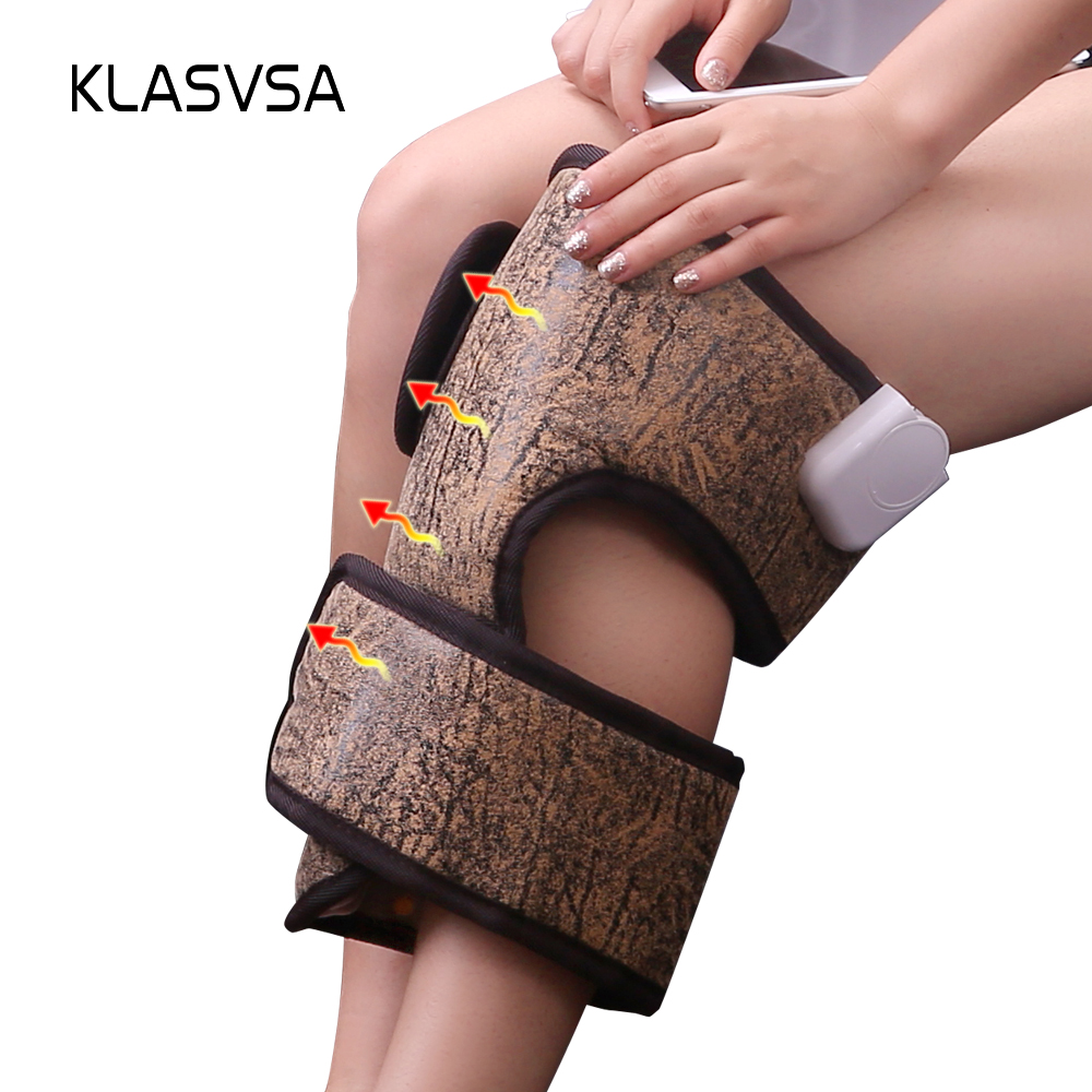лучшая цена KLASVSA Far Infrared Tourmaline Knee Pad Electric Heating Therapy MANFAN Anion Brace Leg Pain Support Thermal Mat Health Care