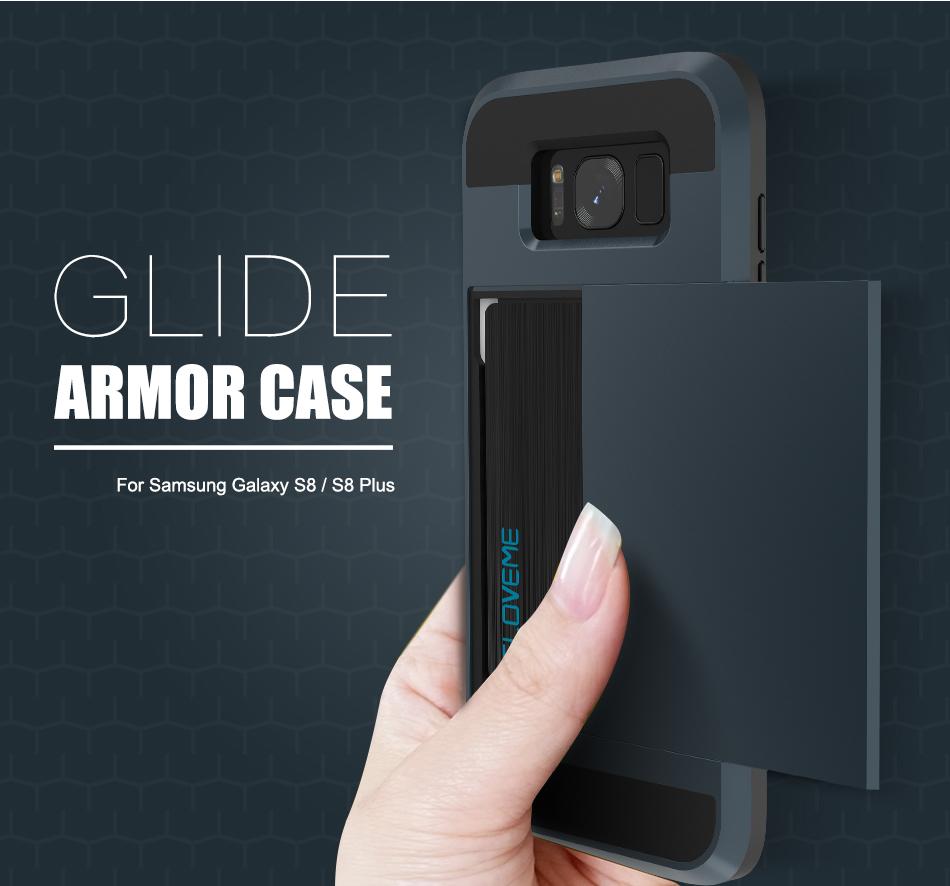 For Samsung S8 Plus Armor Case Galaxy S8 Hidden Card Slot Phone Cases (1)