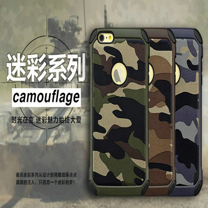 Fashion 2 IN 1 PC+Silicon Camouflage Design Hard Cover Case For Iphone 6 6s <font><b>6g</b></font> 4.7 Inch Cover <font><b>Mobil</b></font> <font><b>Phone</b></font> Accessories