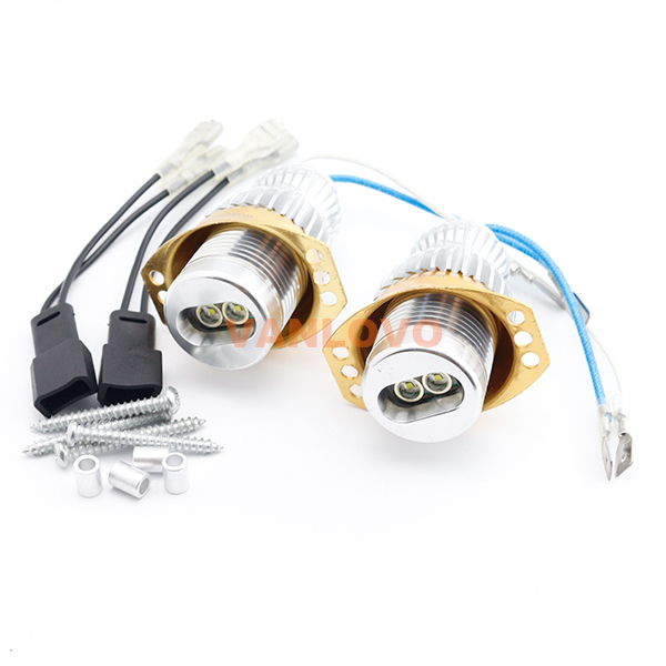 2x 10W Angel Eyes <font><b>LED</b></font> Marker for <font><b>BMW</b></font> <font><b>E90</b></font> Sedan / E91 Estate PRE-FACELIFT Models With OEM Xenon <font><b>Headlights</b></font> image