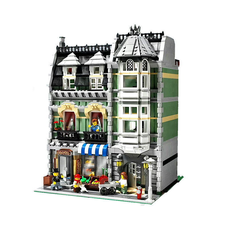 ФОТО 2462Pcs 15008 City Street Creator Green Grocer Model Building Kits  Blocks Bricks Compatible 10185