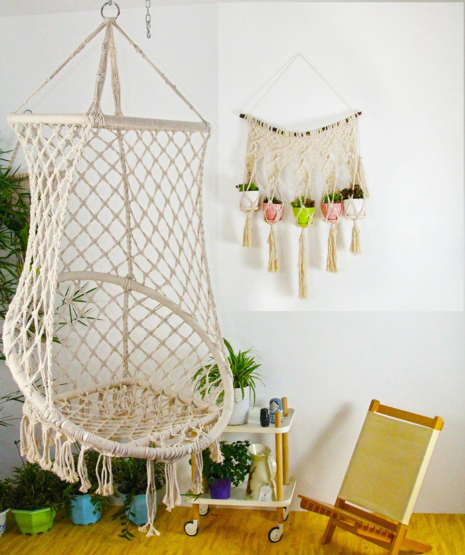 children s swing nest swing indoor outdoor swing chair outdoor furniture cotton rope garden chair