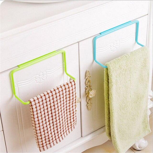 1 pc nouveau porte serviettes suspendus organisateur de support salle de bains armoires de for Organisateur salle de bain