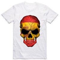 LEQEMAO Plus size,M~5XL,Men's Spain Style 3D Skull Printed Bullfighting T shirt Male Spain Tee Shirt camisetas Hombre De Marca