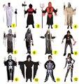 Homens adultos Crianças miúdo do dia das bruxas partido cosplay diabo crânio fantasma vampiro trajes com impressão Esqueleto zombie Mummy roupas