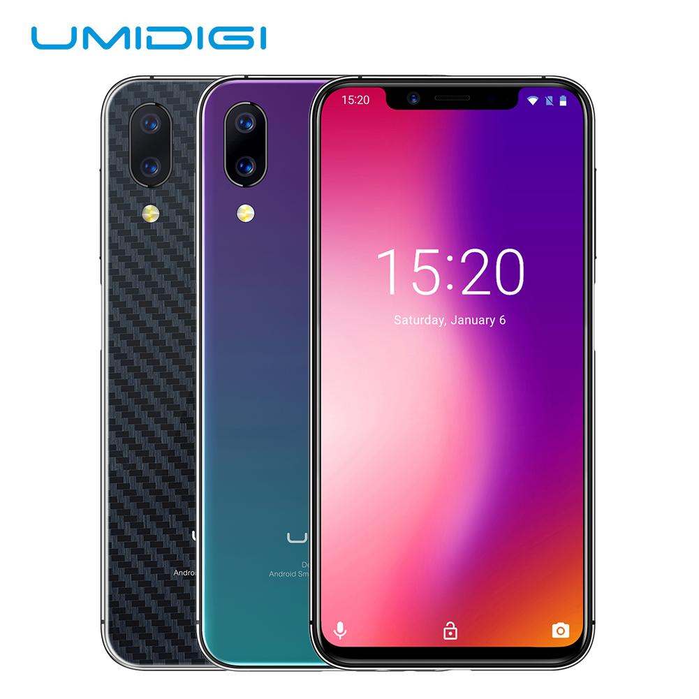 """UMIDIGI One Pro 5.9"""" Android 8.1 Mobile Wireless Charging 4GB 64GB P23 Octa Core Smartphone 12MP + 5MP Dual 4G NFC Global Band"""