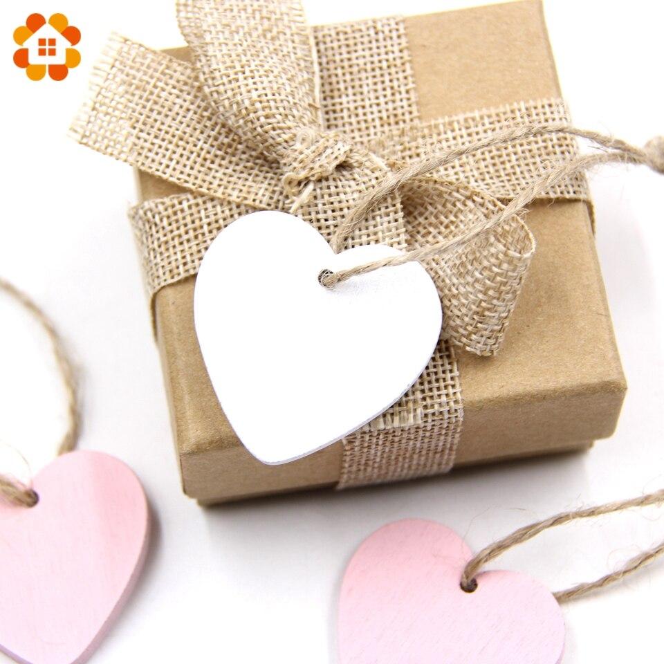 10PC DIY Wooden Hearts Wooden Pendants Ornaments Wood Craft Wedding ...
