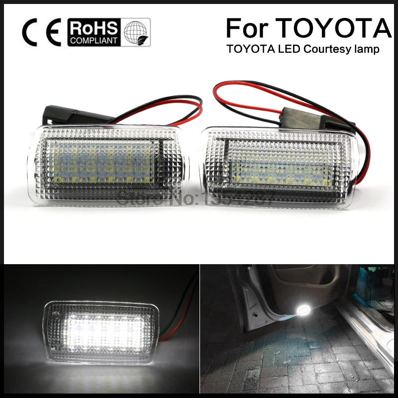 2pcs LED Door Step Courtesy Lights For Lexus IS ES RX GX LX Toyota