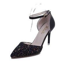 Fashion summer autumn women's parry high heel pumps Brand Designer slip on women Gladiator Sandals top thin heel leather shoes