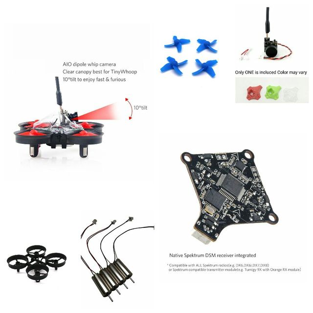 FPV Racing TINY WHOOP Quadcopter Based like Blade Inductrix on F3 Flight Controller FrSky Taranis X9D 615 Coreless Motors