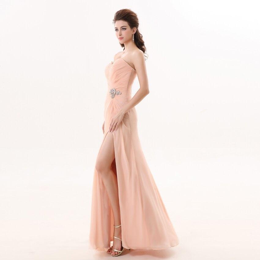 Vestidos de dama de honor 2019 YOUXI BD012 vestidos de Chifón con relleno suave rosa