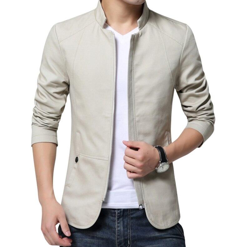 Thin 2018 brand men spring autumn casual jacket men's Slim fit cottoon jacket and coat Mens stander collar jacket veste homme