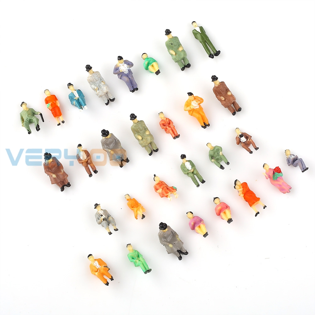 100 pcs 1:87 scale ALL Seated People sitting figures passengers Painted New