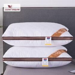 Slowdream 48x74 cm rozmiar poduszka na łóżko prostokąt bawełniana wyściółka rzuć poduszka poduszka biały rdzeń miękkie poduszki tekstylia domowe w Poduszki pościelowe od Dom i ogród na