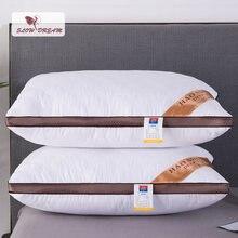 Подушка для кровати snowdream 48x74 см прямоугольная хлопковая