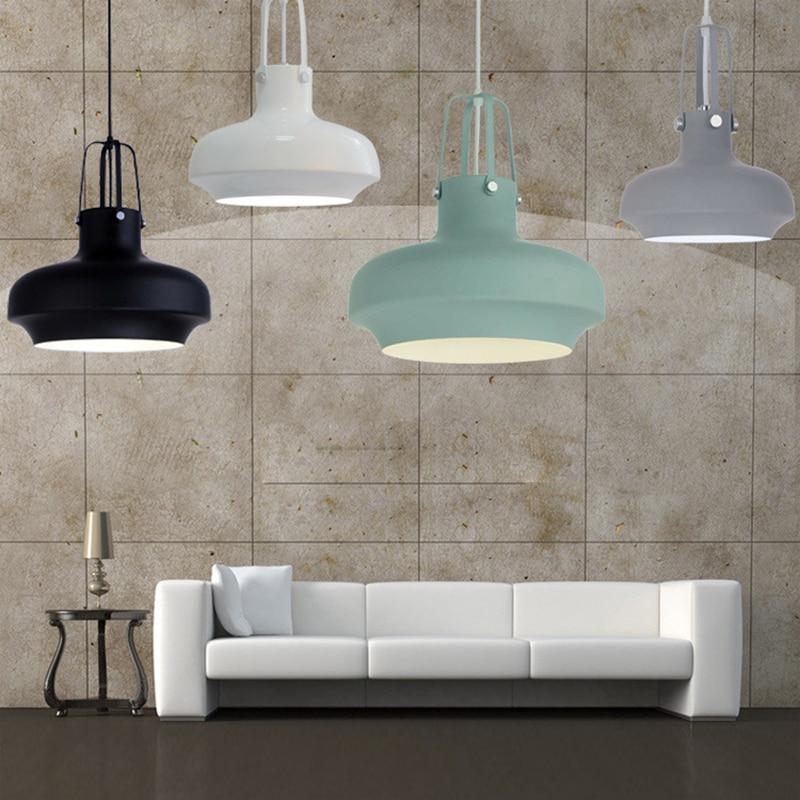 Modern Loft Nordic hanging aluminum Pendant Lamp lamparas Fixtures E27 LED pendant Lights for Kitchen bedroom Cafe living room
