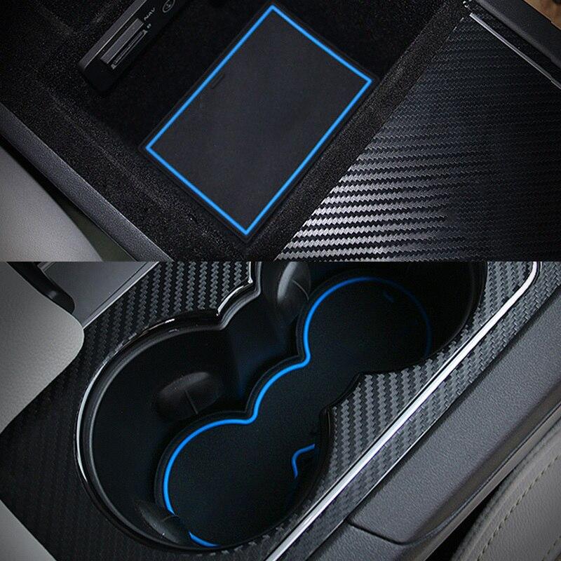 2017 Jaguar F Pace Interior: 17pcs Non Slip Door Slot Cup Mat Storage Rubber Interior