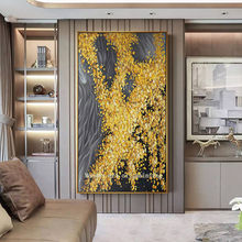 High Quality hand painted Abstract gold Trees Oil Painting On Canvas 100% Handmade Beautiful flower Landscape Tree Paintings