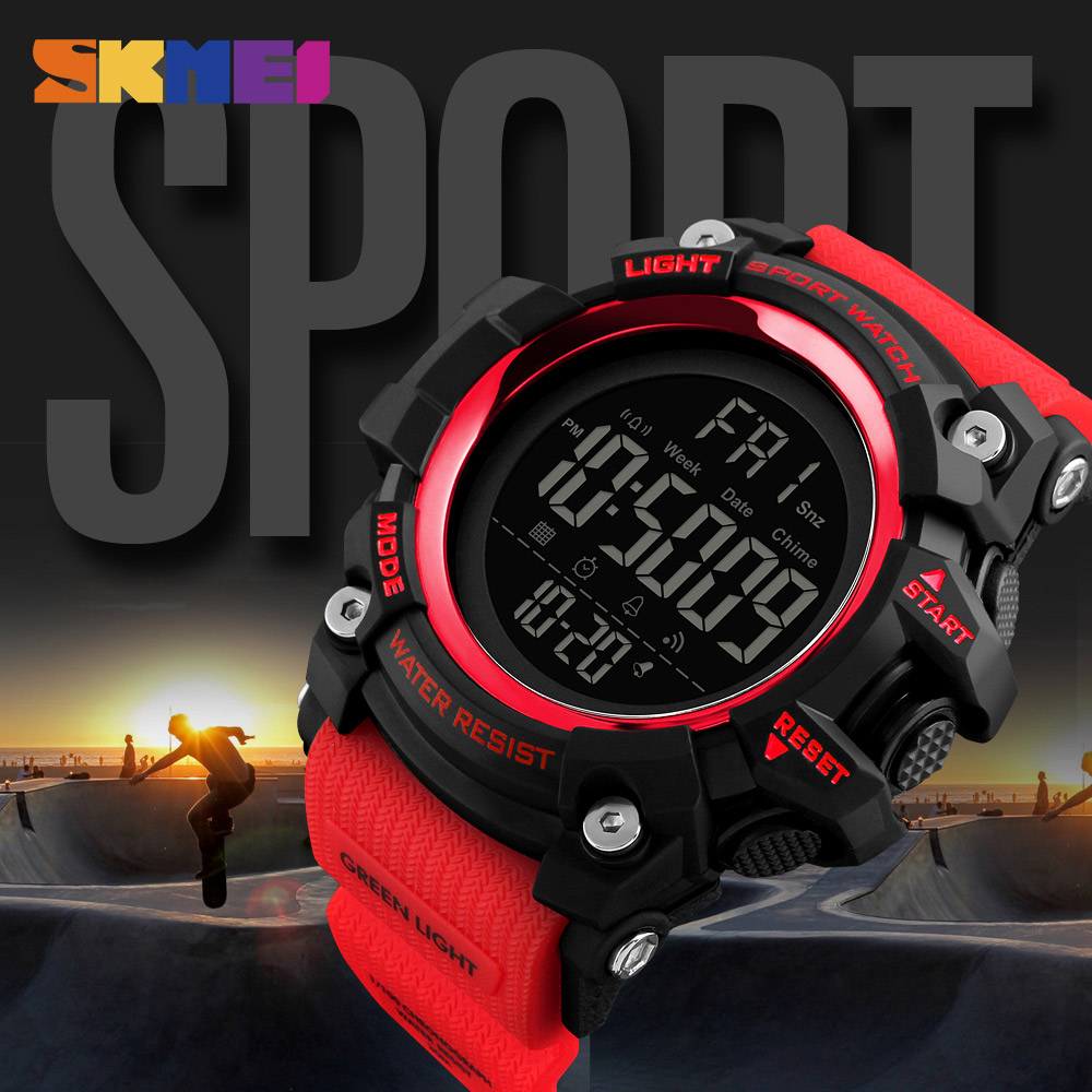 SKMEI Mænd Outdoor Sports Watch Countdown 2Time Alarm Fashion - Mænds ure - Foto 4