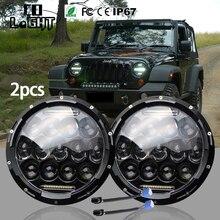 """CO LUMIÈRE 2 Pcs 7 Pouce LED Phares Kit 7 """"Haut Bas faisceau pour Lada Niva UAZ 4×4 4WD Moto Conduite Offroad 4×4 SUV ATV"""