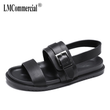 High Quality Genuine Leather Roman Sandals mens Summer British retro men shoes all-match cowhide gladiator sandals summer