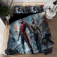 Duvet Cover Sheet 3D Star Wars Ant man Film Bedding Sets King Queen full Twin Size 3PCS black PillowCase housse de couette ropa