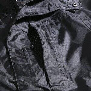 Image 4 - Chaquetas con capucha impermeable para hombre Otoño de talla grande 8XL 9XL 10XL 11XL 12XL chaqueta holgada de gran tamaño con cremallera