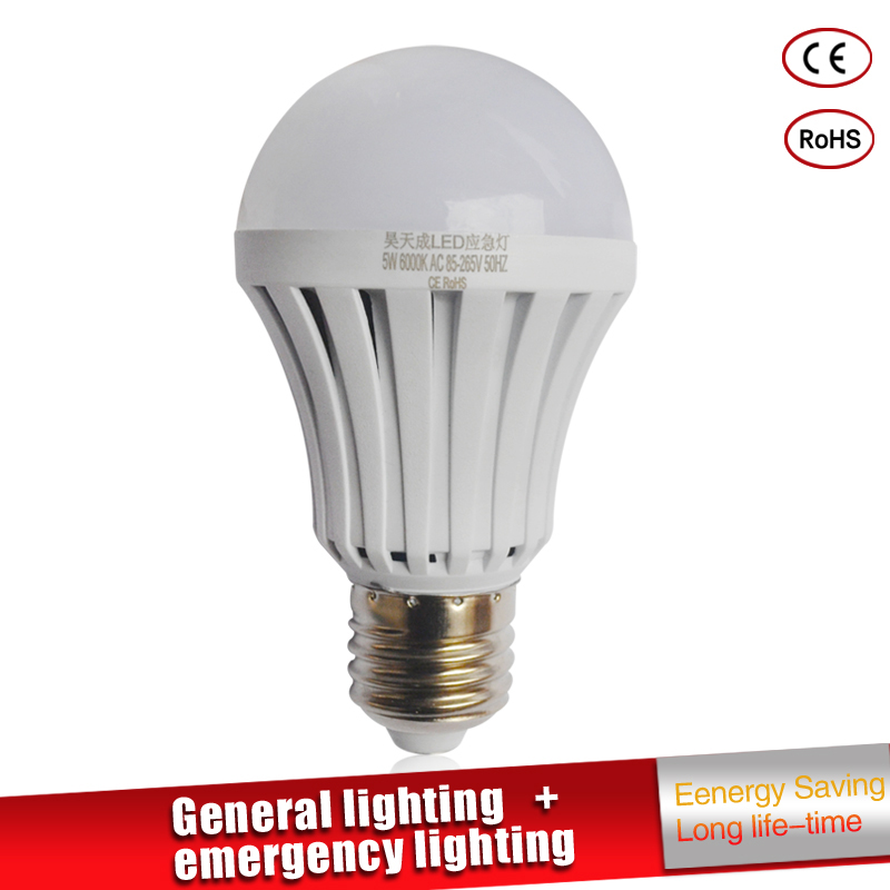 Led <font><b>Emergency</b></font> <font><b>Light</b></font> LED <font><b>Bulb</b></font> E27 led lamp 5W 7W 9W Rechargeable Battery Lighting Lamp for Outdoor Lighting Bombillas Flashlight image