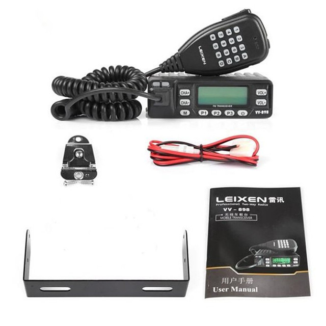 100% Original LEIXEN VV 898 Car Radio Two Way Radio 10W UHF/VHF Ham Radio  Mobile Transceiver Woki Toki