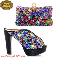 DSC08 Latest African Woman Shoes And Bag Set Fashion Italian Shoes And Bag Online Fashion Adult