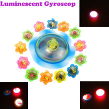 Funny LED Light Up Tiny Toy Fidget Spinner Stress Relief Gift Gyroscop Kids Fantastic Glow Luminous Toys