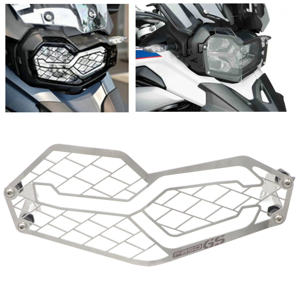 F850GS F750GS Headlight Cover Protection Grille Mesh Guard For BMW F 850 GS F 750 GS 2018 2019 Motorcycle Accessories-in Covers & Ornamental Mouldings from Automobiles & Motorcycles