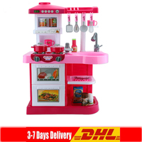 DHL Kitchen Toys Light up Sound Plastic Simulation Home Appliances Kids Children Play House Large Baby Girls Pretend Play Toys
