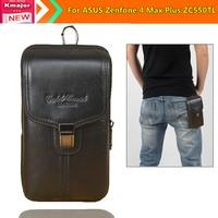 Genuine Leather Carry Belt Clip Pouch Waist Purse Case Cover For ASUS Zenfone 4 Max Plus