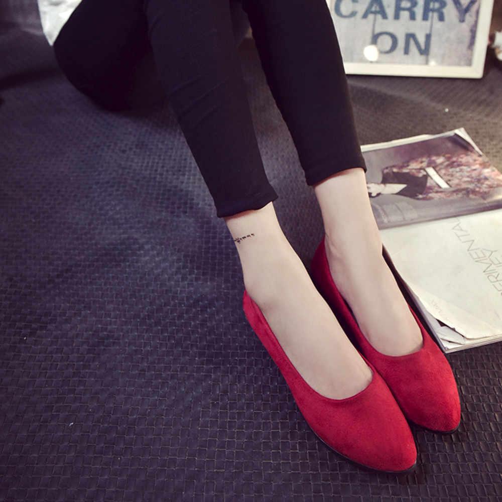 รองเท้าแฟชั่นผู้หญิงสุภาพสตรีแบนรองเท้าฤดูร้อนรองเท้าแตะลำลองรองเท้า Ballerina ขนาด 2019