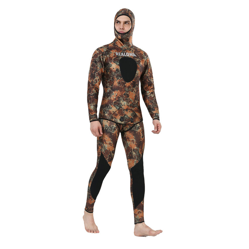 Top quality new 7mm CR neoprene diving suit camo spearfishing wetsuit (8)