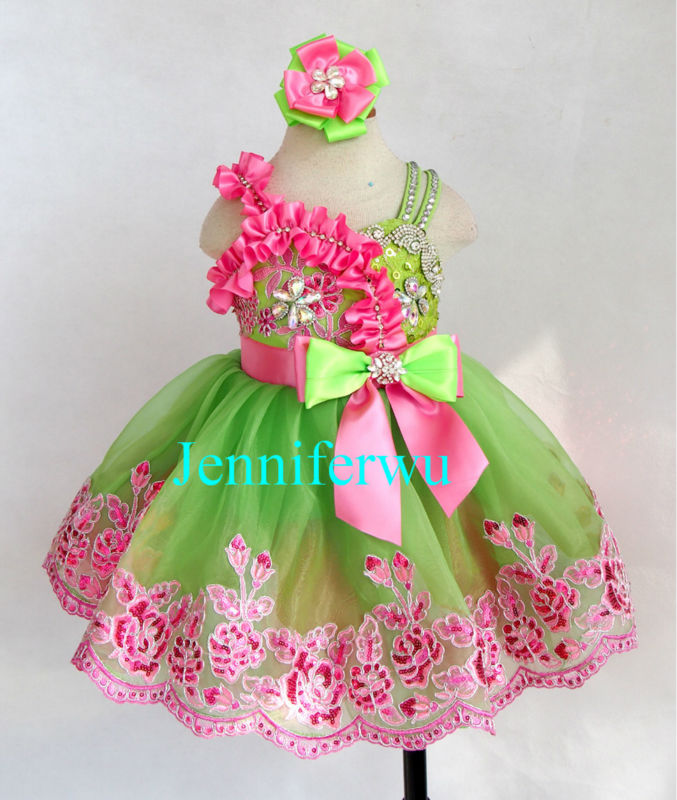 baby girl pageant dress and formal clothes baby girl  prom dresses G272-5