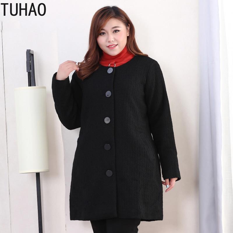 Женское шерстяное пальто больших размеров, Элегантное длинное пальто большого размера 10XL 9XL 8XL 7XL, весна 2019