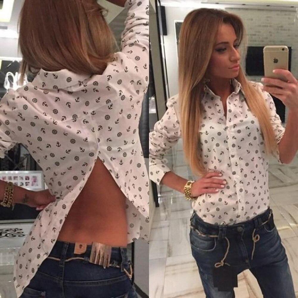 2016 del camisas estilo de de marinero blusas Blusas ropa impreso China  manga larga en mujer ... 0588eaf37a96