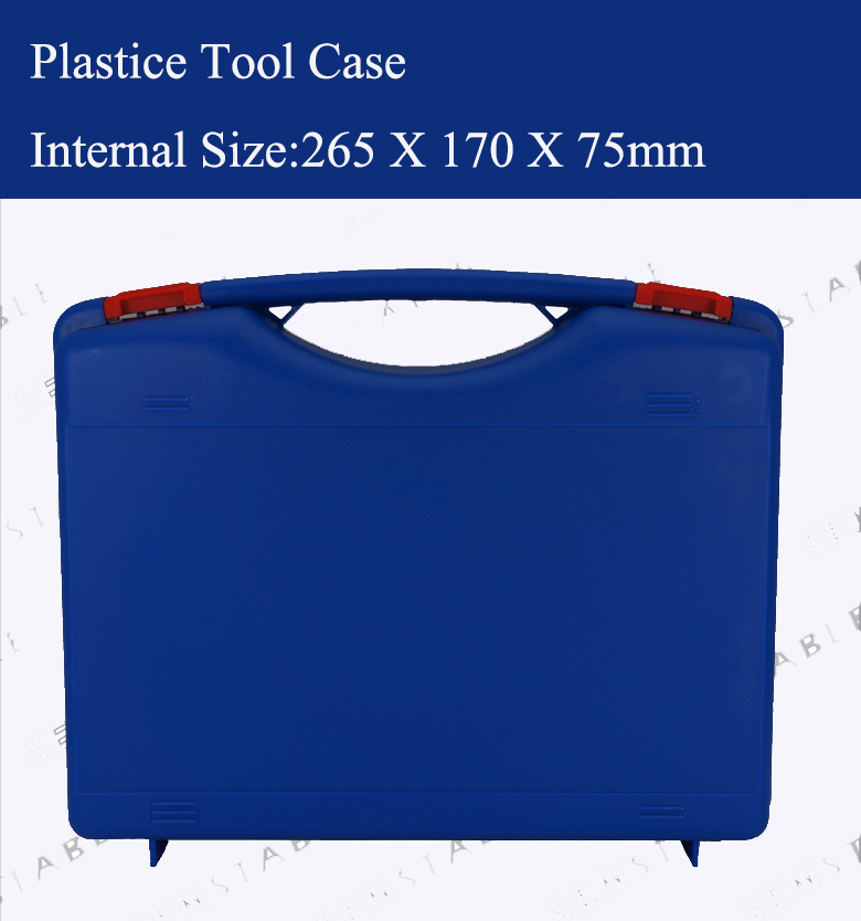 Plastic tool case suitcase toolbox impact resistant safety case equipment instrument box equipme with pre cut