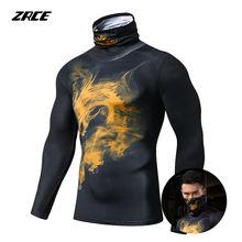 Мужская футболка с длинным рукавом для фитнеса быстросохнущая