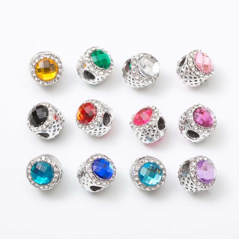 10pcs Fit Pandora Charms Original Bracelet Spacer Charm Bead Hollow Beads Jewelry Making DIY js1167