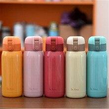 2016 Nueva Lindo Mini termo Taza del Vacío del Acero Inoxidable luz y niños portable de la botella de agua de Café Tazas De Té Caliente de La Venta
