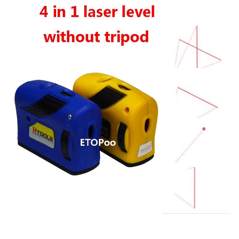 4 в 1 инфракрасный лазерный уровень перекрестная линия лазер с магнитом Многофункциональный ручной инструмент лазерный инструмент - Цвет: without tripod