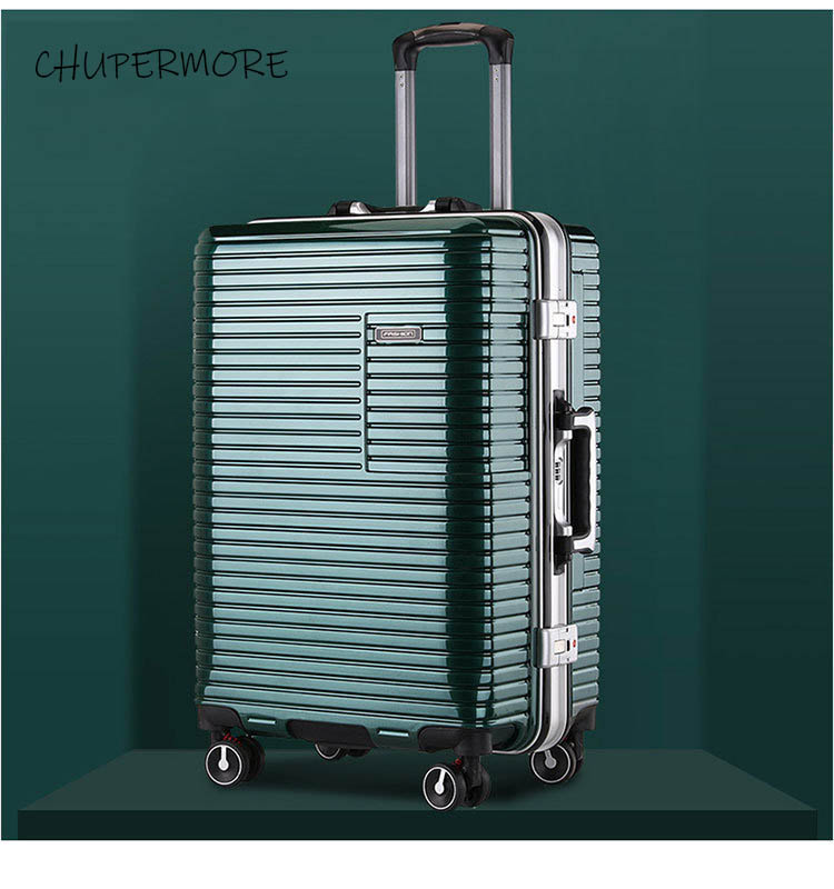 20/24 inch size New Korean aluminum frame Rolling Luggage Spinner Men Business brand Suitcase Wheels Carry Ons Travel Bags