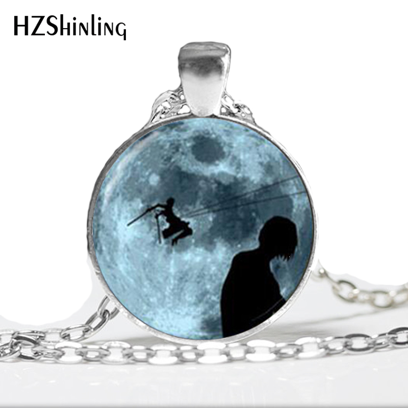 HZ–A478 New Attack on Titan Pendant Attack on Titan Jewelry Glass Jewelry Necklace Glass Dome Pendant HZ1