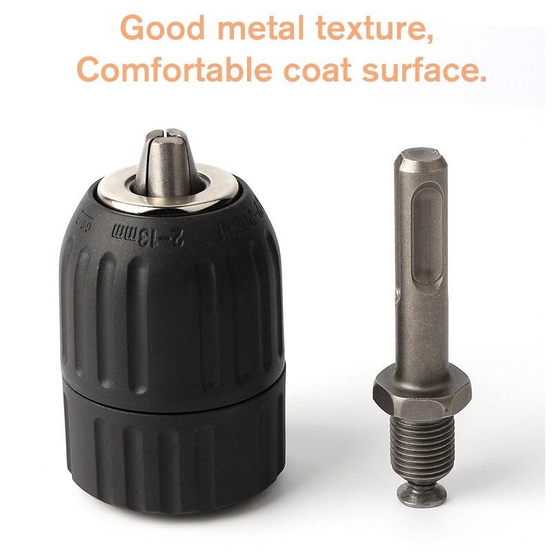 2-13MM Professional Drill Chuck Keyless Drilling Quick Change Bit Adapter Converter SDS Adaptor Hardware Tool Accessories