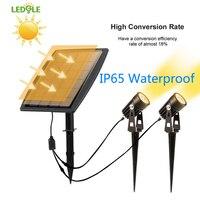 LEDGLE IP65 Wodoodporna Odkryty Krajobraz Oświetlenie Punktowe Ogród LED Wysokiej jakości Super Jasność Światła Słonecznego Ogród Trawnik Lampy