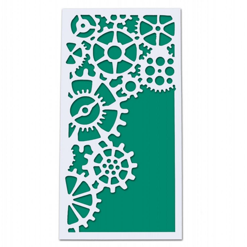 23x12cm Gear Machine DIY Layering Stencils Wall Painting Scrapbook Coloring Embossing Album Decorative Card Template